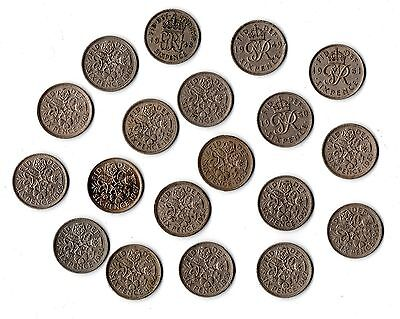 Various Lucky Sixpence Coins - Choose Date 1948 To 1967 - Birthday Gift • 1.25£