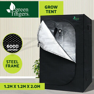 AU124.90 • Buy Greenfingers Grow Tent Kits Hydroponics Indor Reflective 1.2X1.2X2M 600D Oxford