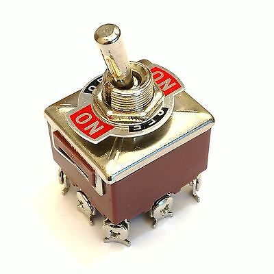 US Stock 3PDT 3 Position 9 Screw PIN Terminals Toggle Switch AC380V 10A E-TEN303 • 8.27$