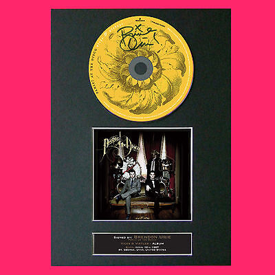 PANIC AT THE DISCO Virtues & Vices Album Signed Cd MOUNTED A4 Autograph Print 71 • 7.99£