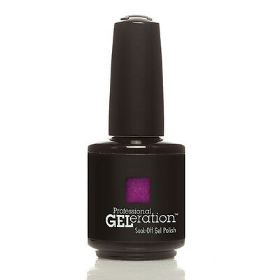 Jessica GELeration UV LED 15ml Soak Off Gel Nail Polish Opening Night (PURPLE) • 7.16£