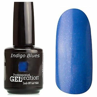 Genuine Jessica GELeration UV LED 15ml Soak Off Gel Nail Polish - Indigo Blues  • 7.16£