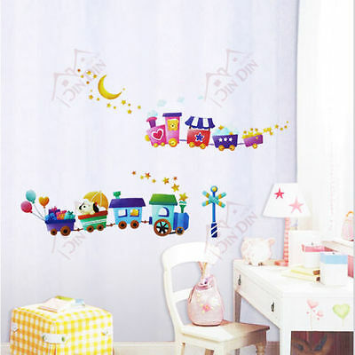 Choo Choo Animal Trains Childrens/Kids Room Wall Stickers Home Decor • 4.88£