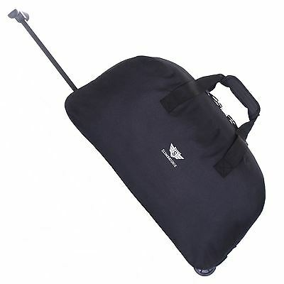 £9.99 • Buy Cabin Approved Wheeled Travel Trolley Hand Luggage Suitcase Duffle Holdall Bag