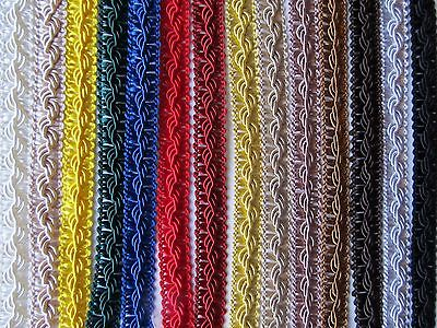 12mm SILKY ORNATE BRAID Blinds Lampshade Costume Upholstery Furnishing Gimp Trim • 1.35£
