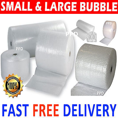 £5.80 • Buy SMALL AND LARGE BUBBLE WRAP 300mm 500mm 600mm 750mm 1000mm 1500mm X 10m 50m 100m