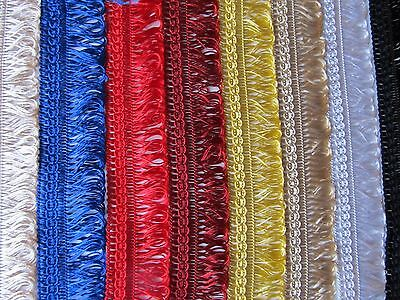 30mm SILKY LOOP FRINGE BRAID Blinds Lampshade Upholstery Furnishing Gimp Trim • 1.25£