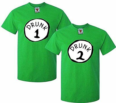 Men's Drunk One, Drunk Two T-Shirts (Two Pack) - FUNNY IRELAND DRINK GIFT JOKE • 15.99£
