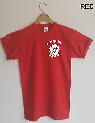 English Rose T-Shirt - St.George's Day, England, Patriotic, All Sizes & Colours • 16.99£