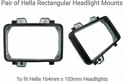 Pair Of Hella Rectangular Headlight Surrounds For Jeep Wrangler YJ 1995 1996 • 54.99£