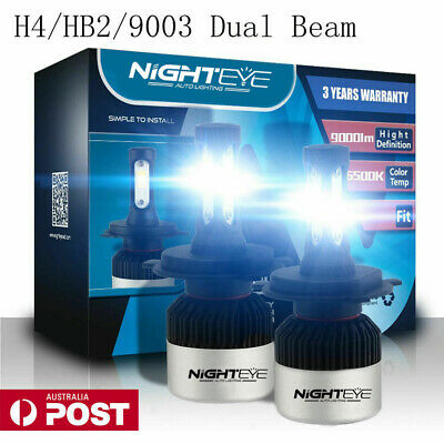 AU48.99 • Buy NIGHTEYE H4 HB2 9003 LED Headlight Kit Light Bulbs High/Low 72W 9000LM/Set White
