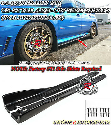 $149.99 • Buy CS-Style Add-on Side Skirts Fits 04-07 Subaru Impreza STi