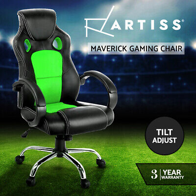 AU63.90 • Buy Artiss Gaming Chairs Office Study Computer Chairs Seating Racing Racer Black