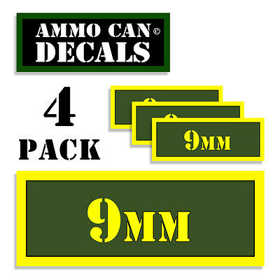 $ CDN4.38 • Buy 9MM Ammo Can 4x 9MM Labels Ammunition Case 3 X1.15  9MM Sticker Decals 4 Pack AG