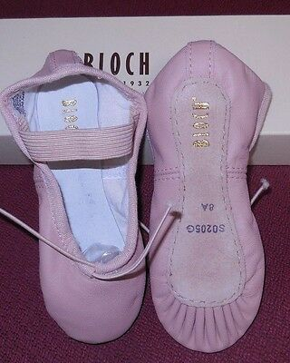 $15.12 • Buy  Bloch Leather Full Suede Sole Ballet Shoes Ch/ladies All NARROW  A  Width 205G