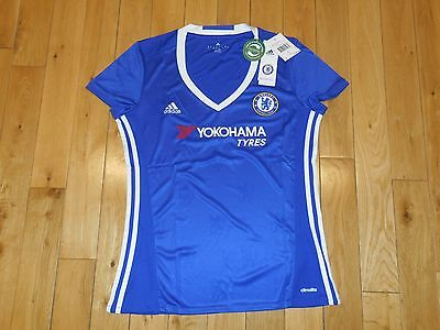 Adidas CHELSEA FC FOOTBALL CLUB 2016/17 Home Soccer Jersey Kit Womens Large $80 • 35.77£