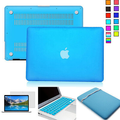 $23.74 • Buy [Blue Series] NEW Rubberized Matte Case W/Sleeve Bag For Macbook Pro 13  Retina