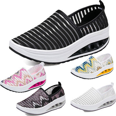 Women Mesh Breathable Casual Slip-On Loafers Shoes Summer Sport Trainers Sneaker • 17.70£