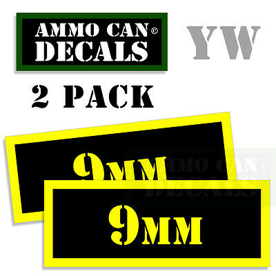 AU2.72 • Buy 9MM Ammo Can Box Decal Sticker Bullet ARMY Gun Safety Hunting 2 Pack YW