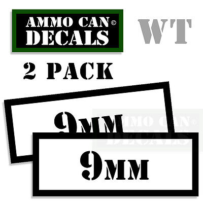 AU2.72 • Buy 9MM Ammo Can Sticker Bullet Can Box ARMY Gun Safety Hunting 2 Pack WT