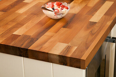 SALE Solid Walnut Kitchen Worktops 3M 4M & Breakfast Bars Solid Wooden Worktops • 30£