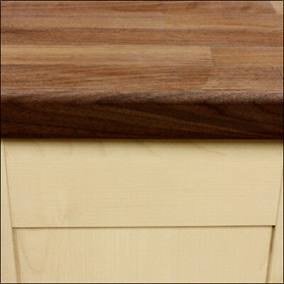 American Walnut Wooden Worktops, Dark Timber Countertops, Solid Surface Kitchen • 20£