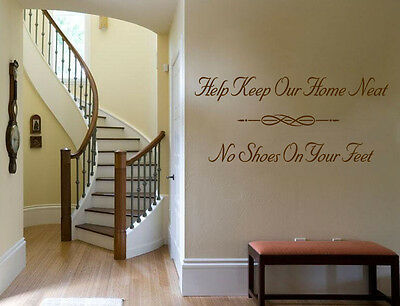 £15.95 • Buy Wall Quote  Help Keep Our Home Neat..  Wall Art Sticker Vinyl Transfer Decal.