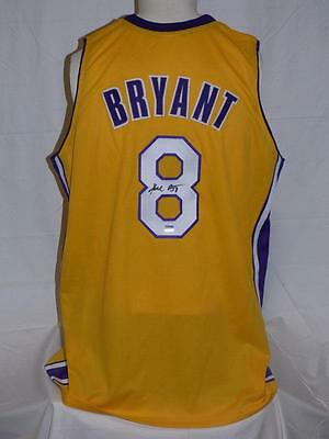 dbecb1965cf Kobe Bryant Signed Autographed Custom Lakers Yellow Number 8 Jersey Psa •  499.99