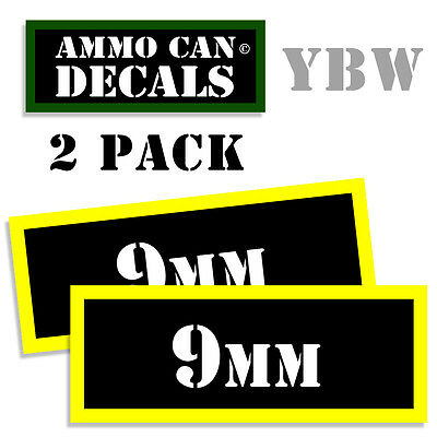 AU2.99 • Buy 9MM Ammo Label Decals Box Stickers Decals - 2 Pack BLYW