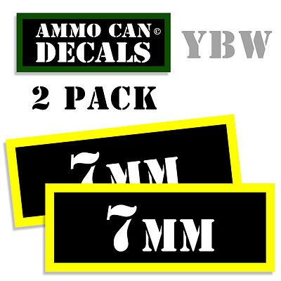 $ CDN2.65 • Buy 7MM Ammo Label Decals Box Stickers Decals - 2 Pack BLYW