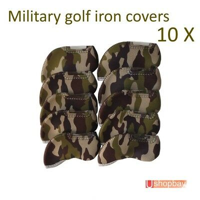 AU20.50 • Buy 10 X Iron Covers DPM Military Suit Callaway Taylormade Clubs BN For Golf Bag