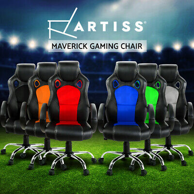AU169 • Buy Artiss Gaming Chair Office Computer Leather Chairs Racer Executive Seat Mesh