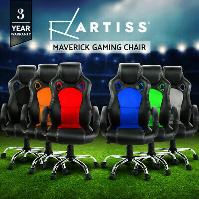 AU109.95 • Buy Artiss Gaming Chair Office Executive Computer Chairs Racer Executive Seat Mesh