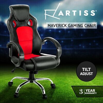 AU119.95 • Buy Artiss Gaming Chairs Office Chair Study Computer Desk Seating Racing Racer Red