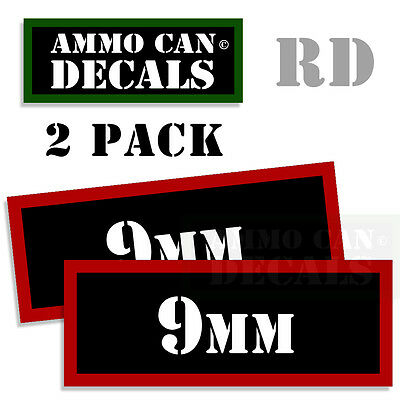 AU2.72 • Buy 9MM Ammo Can Sticker Bullet Can Box ARMY Gun Safety Hunting 2 Pack RD