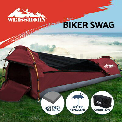 AU155.95 • Buy Weisshorn Biker Swag Camping Single Swags Tent Biking Deluxe Rip Stop Canvas Bag