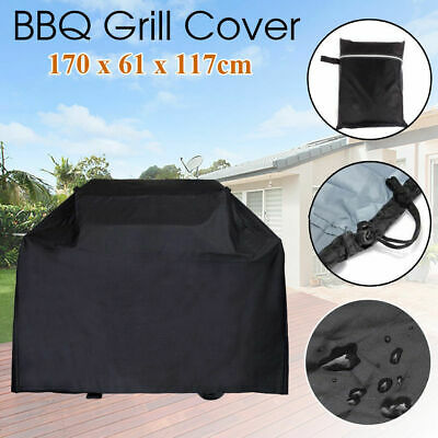 AU20.39 • Buy BBQ Grill Cover 4 Burner Outdoor UV Waterproof Gas Charcoal Barbecue Protector