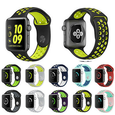 AU8.95 • Buy Sport Silicone Strap Band For Apple Watch Series 5 4 3 2 1 IWatch 38mm 40 42 44