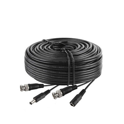 $ CDN33.99 • Buy 160Ft Security Camera Cable CCTV Video Power Wire BNC RCA Black Cord DVR