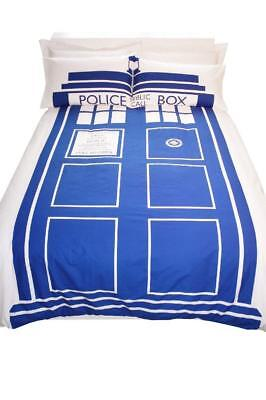 Official Dr Doctor Who Tardis King Size Bedding Bed Duvet Cover Set Bnwt   • 19.95£