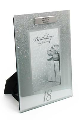 £11.29 • Buy Personalised 18th Birthday Photo Frame Silver Glitter Gift FG59518-P