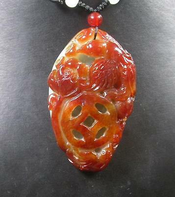 $ CDN674.89 • Buy Certified Red 100% Natural A Jade Jadeite Pendant Phoenix Lotus Flower 393147