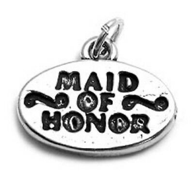 $18.19 • Buy 925 Sterling Silver Maid Of Honor Charm