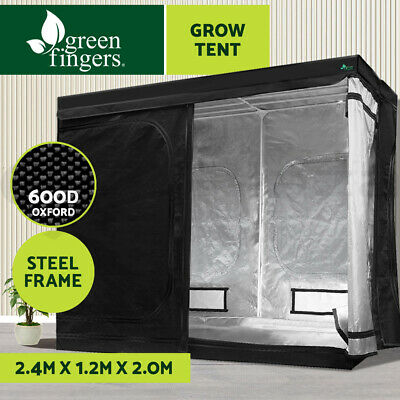 AU194.90 • Buy Greenfingers Grow Tent Kits 2.4Mx1.2Mx2M Hydroponics Indoor Grow System Black