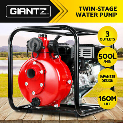 AU229.95 • Buy Giantz 2  Petrol Water Pump High Flow Irrigation Fire Fighting Twin Impeller