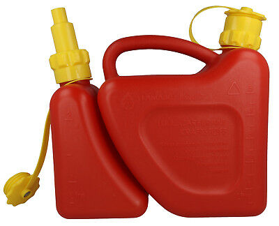 £29.32 • Buy Chainsaw Combi Can With Anti Spill Spout Holds 2 Litre Chain Oil & 5 Litre Fuel