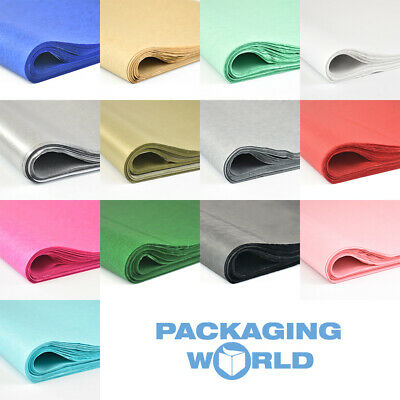 £2.97 • Buy Top Quality 17gsm Coloured Acid Free And Metallic Tissue Paper 500x750mm/20x30