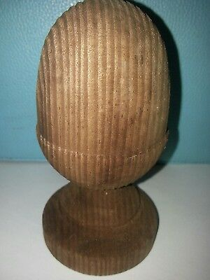 £5.20 • Buy Treated  Brown Wooden Acorn Finial For 3ins Posts