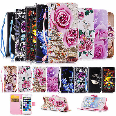 £2.99 • Buy Magnetic Flip Wallet Leather Case Cover Card Slot Stand For Apple IPhone Samsung