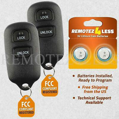 $36.99 • Buy 2 For 2000 2001 2002 2003 Toyota Tundra Keyless Entry Remote Car Key Fob